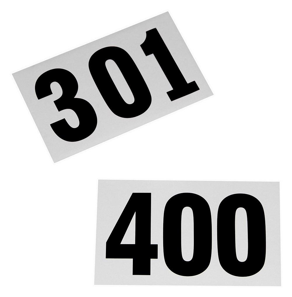 100 Startnummern für Sportveranstaltungen, Nummern 301 - 400
