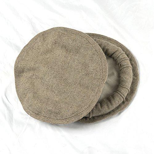 skyfruit Afghani Handmade Hat Chitrali Pakol Cap Peshawari Gift 100% Wool  (Stark White) 1b384914241