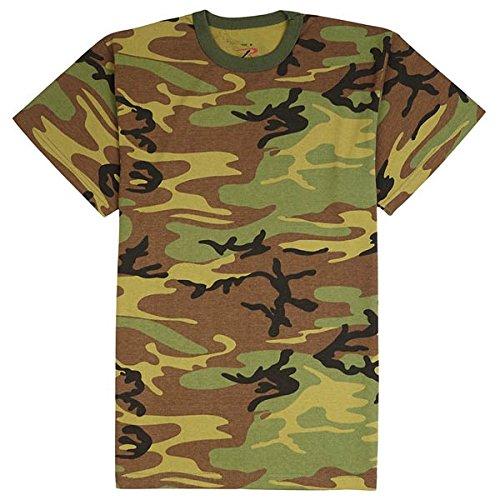 Woodland Camo Clothing - ROTHCO T-shirt Woodland Camo, Small
