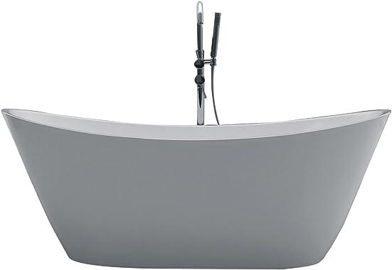 Eviva EVTB1011-60WH Bella 60″ White Acrylic Free Standing Bathtub Combination
