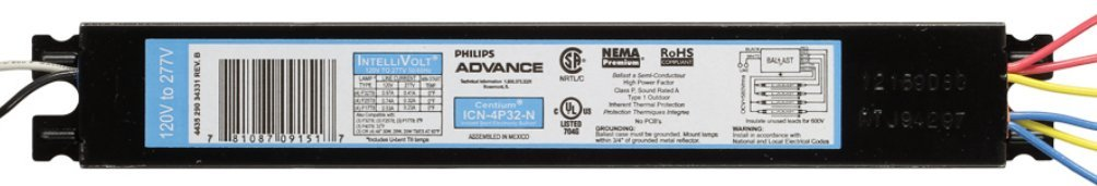 Philips Advance 10637 ICN-3P32-N T8 IntelliVolt Fluorescent Ballast 10 Pack