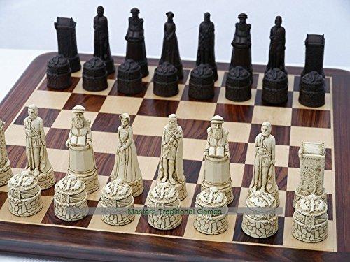 世界有名な Scottish Themed Ornamental (cream Chess no Set (cream and brown, brown, no board) B077Q9KDGD, 日立市:11770cd8 --- nicolasalvioli.com
