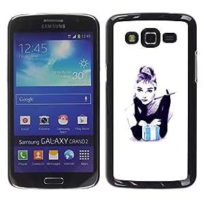For Samsung Galaxy Grand 2 II / SM-G7102 / SM-G7105 Case , Gift Black White Minimalist Fashion - Diseño Patrón Teléfono Caso Cubierta Case Bumper Duro Protección Case Cover Funda