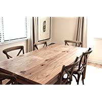 Dining Table, Reclaimed Wood Parsons Kitchen Table