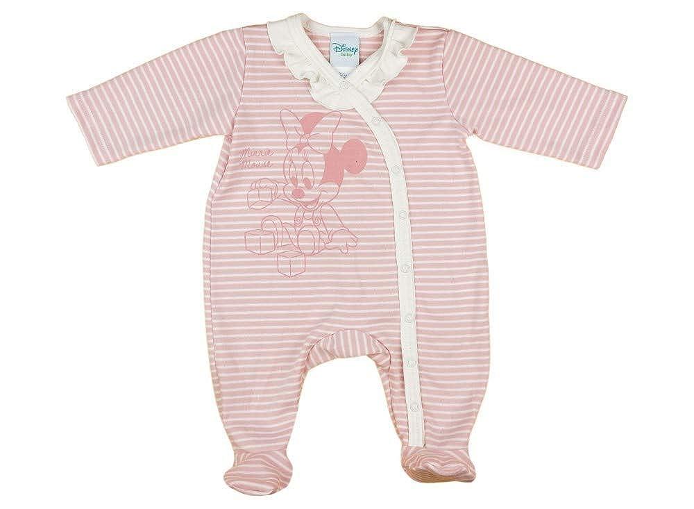 74 Baby-Schlafanzug Langarm Spiel-Anzug 56 Disney Minnie Mouse M/ädchen Baby-Strampler Bio-Baumwolle in GR/ÖSSE 50 Einteiler mit F/ü/ßchen Overall 62 68