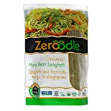 Zeroodle Organic Mung Bean Spaghetti Pasta - Low Carb High Protein Noodles - Gluten Free - 6 Pack