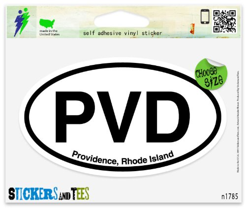PVD Providence Rhode Island Oval Car Sticker Indoor Outdoor 5