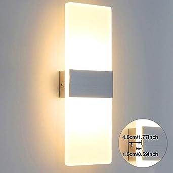 Wandleuchte anthrazit Alu inkl heller 12W LED Aussenleuchte Wandlampe NEU Glas