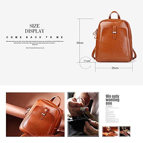 Hangbag en sac dos à Vintage bandoulière à main cuir Bourgogne points sac sac Fashion à zippé dames Violet Yoome 1qaInwFzq