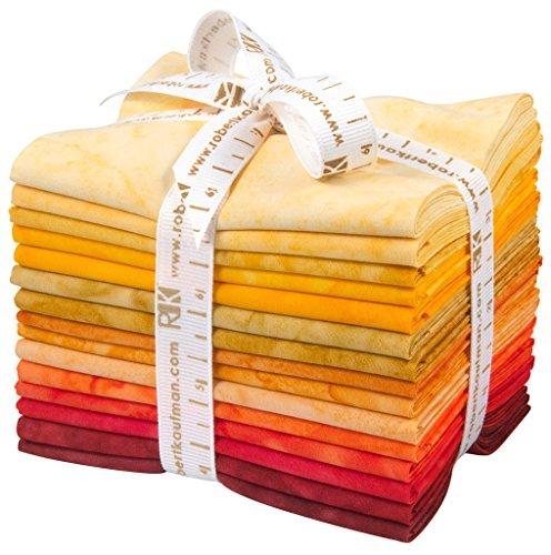 Lunn Studios PRISMA DYES LAVA FLOW BATIKS Fat Quarter Bundle 15 Precut Cotton Fabric Quilting FQs Assortment Robert Kaufman -