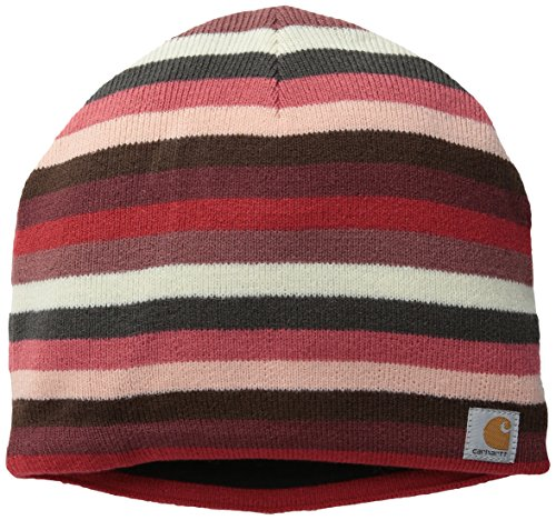 - Carhartt Women's Striped Knit Hat, Crab Apple, One Size
