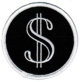 Dollar Sign Iron-On Patch Money Cash Embroidered Wealth