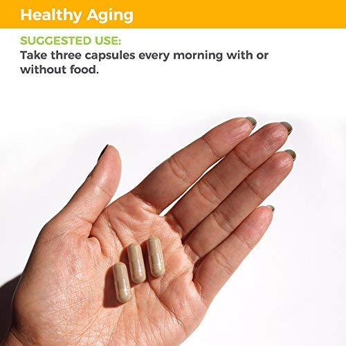51moNOTahYL - Healthy Aging - Anti Aging Supplement - Neutralize Free Radicals - Antioxidant Complex - Formula Includes Acai Berry, Astaxanthin, Resveratrol, R-Alpha Lipoic Acid & Pomegranate Extract (90 Capsules)
