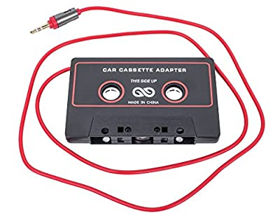 TOPERIN 3.5mm Universal Car Cassette Player Adapter for Smartphones, iPod, iPad