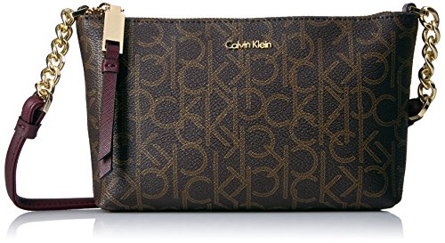 Calvin Klein Hayden Monogram Crossbody, Rum Raisin Multi