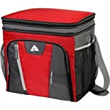 Cheap 36-Can Cooler with Removable Hardliner, Red