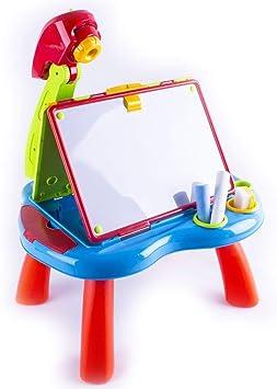 deAO Escritorio Proyector Estudio Creativo Infantil con Pizarra ...