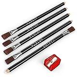 ARTEZA Eraser Pencil, Precision Latex-Free & PVC-Free Soft Eraser White Color Pencil with Brush and Pocket Size Sharpener, Set of 6