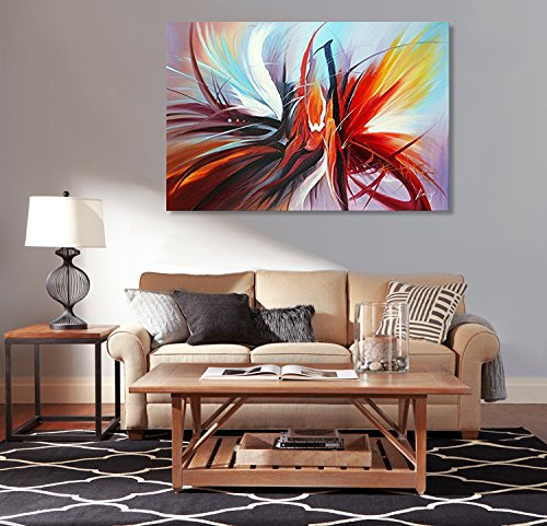 Abstract Canvas Wall Art Handmade Modern Oil Painting Contemporary Artwork for Wall Decoration Stretched Ready to Hang (Framed 3624 inch) by Seekland Art