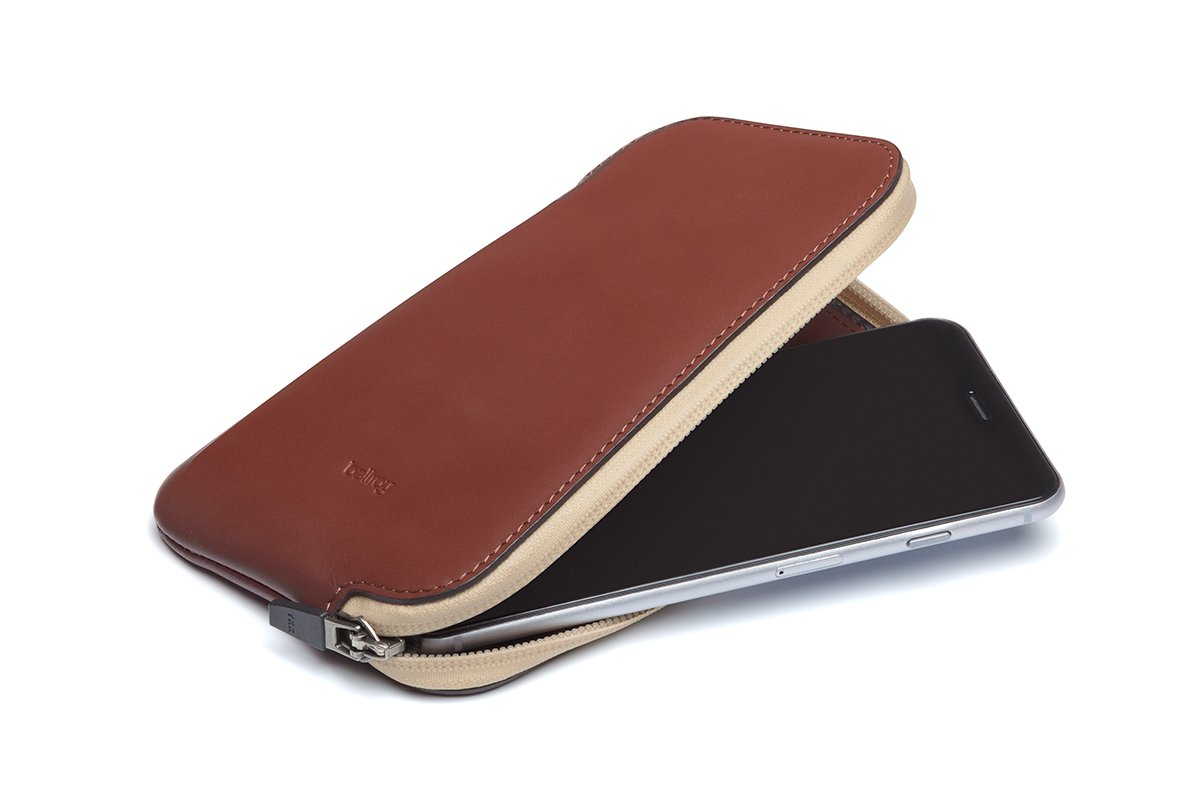 Cartera de Piel Bellroy Elements Phone Pocket Plus Cognac