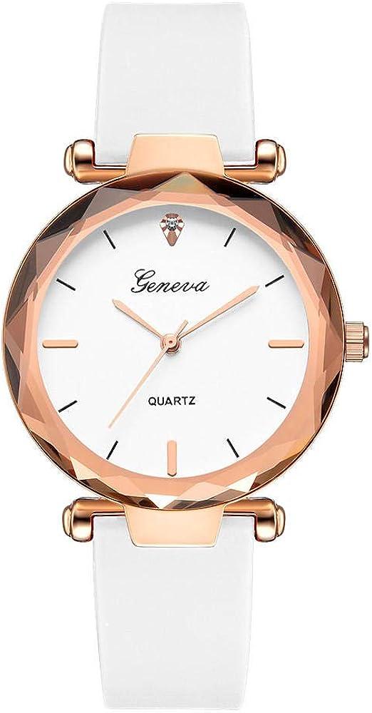 Geneva Watches Women Simple Silicone Band Analog Quartz Round Wrist Watch Mujer Reloj Femme