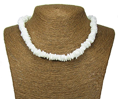 Puka Necklace-18 Inch-Surfer Necklace-Tropical Necklace-Beach Necklace - Shell Necklace-Hawaiian Necklace-Beach (Hawaiian Shell Jewelry)