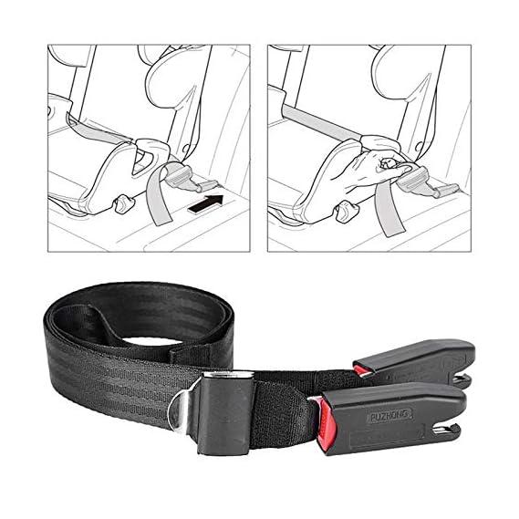 AmaZeus Car Kids Safety Seat Fixing Children ISOFIX Interface Soft Connection Belt (Black)