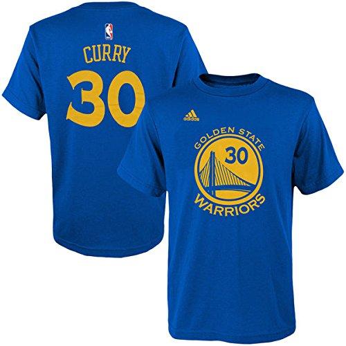 Stephen Curry Golden State Warriors #30 NBA jóvenes nombre y número T-camisa azul