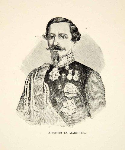 1900-print-alfonso-ferrero-la-marmora-general-prime-minister-italy-6th-italian-original-halftone-pri