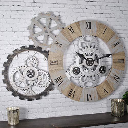 FirsTime & Co. 31044 Gear Collection Wall Clock, 32