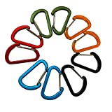 Aluminium Alloy Carabiner Mini Steel Wire Gate Keychain D Shape Heavy Duty Quick Release Hooks for Camping Hiking