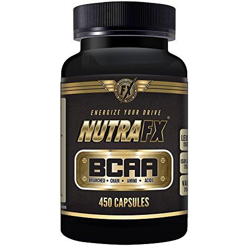 Nutrafx Bcaa Capsules 3000 Mg 450 Capsules Pre Workout et perte de poids pilules