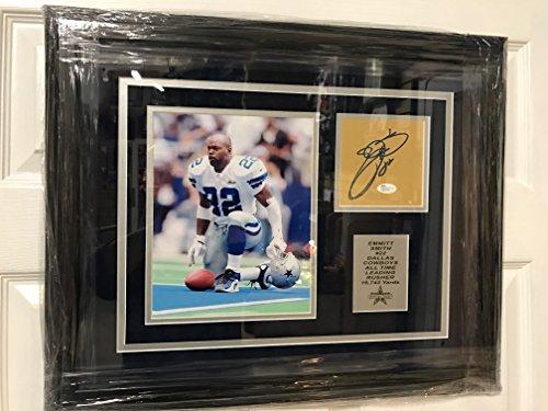 Emmitt Smith #22 Dallas Cowboys Photo Custom Framed Autographed Signed JSA COA - Emmitt 22 Jersey Smith