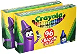 Crayola Crayons Art Tools 96 ct Durable Long-Lasting Colors Built-in Sharpener