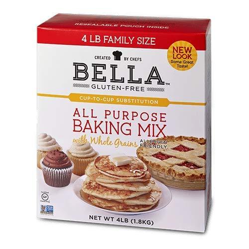 Bella Gluten-Free All Purpose Baking Mix Premium Casein Free Healthy Flour (4 lbs, 4 Pack) by Bella Gluten Free