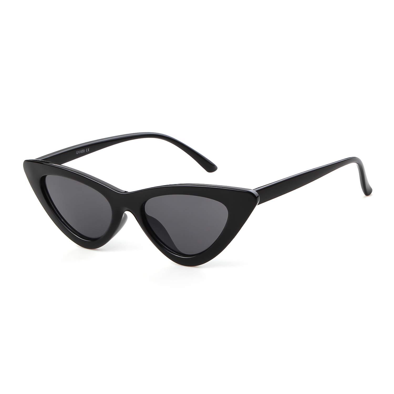 e5f3388988 Amazon.com  Gifiore Retro Vintage Cat Eye Sunglasses for Women Clout Goggles  Plastic Frame Glasses (Black Pink