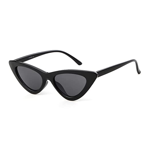 85e0f2beed8c JUCOO Clout Goggles Cat Eye Sunglasses Vintage Mod Style Retro Kurt Cobain  Sunglasses (Black