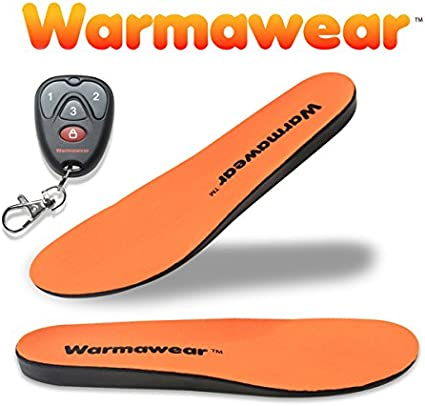 Warmawear Deluxe Wireless Rechargeable Battery Waterproof Heated Insoles with Remote Control Small