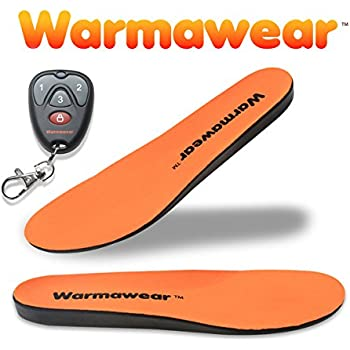 Deluxe Wireless Rechargeable Battery Waterproof Heated Insoles with Remote Control - by WarmawearTM (L)