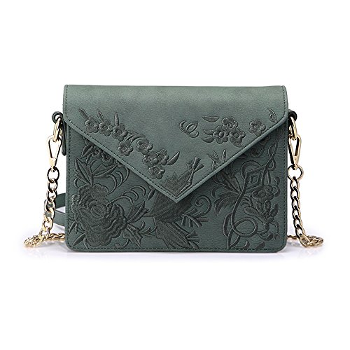 Handbags Chic 2018 Korean Hong Small Wild Messenger Retro Chain New Tide Embroidery Shoulder Kong ZQ Version Ins Bag wtp6xqqFC
