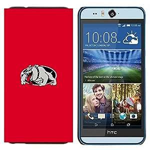 TECHCASE---Cubierta de la caja de protección para la piel dura ** HTC Desire Eye ( M910x ) ** --RED BULLDOG