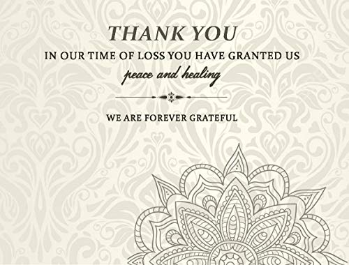 Celebration of life Funeral thank you cards with envelopes Sympathy Condolence acknowledgement Thank you Cards (Ivory cream)