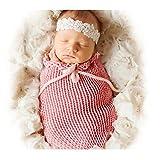 Fashion Unisex Newborn Boy Girl Crochet Outfits Baby Photography Props Sleeping Bag