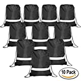 Drawstring Backpack Bags Reflective 10 Pack, Promotional Sport...