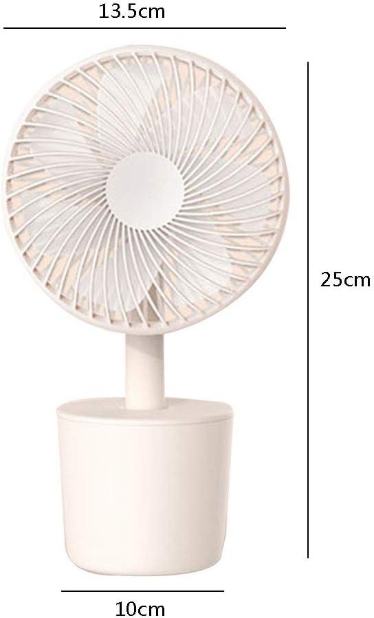 Color : Gray, Size : 13.51025cm Fans Fan Mini USB Fan Office Desk Silent Fan Portable Outdoor Car Fan Household Rechargeable Small Desktop Fan Gift