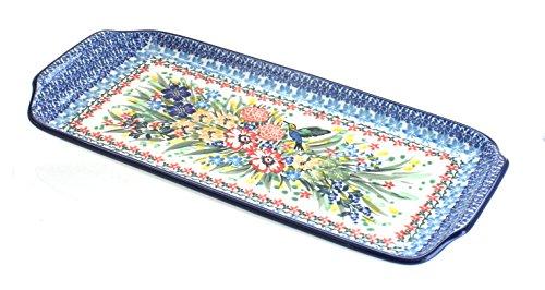 Polish Pottery Hummingbird Bread Tray