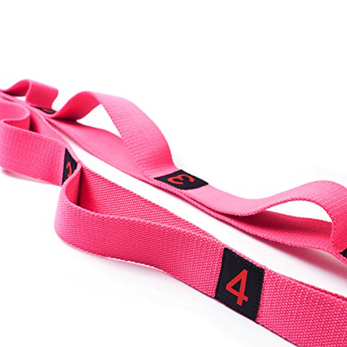KYLIN SPORT Yoga Dance Stretching Strap Multi-loop Stretch Out Strap Assisted Belt for Physical Therapists Gravity Fitness Stretching with Free Carry Bag