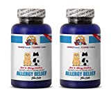 PETS HEALTH SOLUTION anti itch allergy relief for cats - PREMIUM ALLERGY RELIEF FOR CATS - IMMUNE SUPPORT - STOP THAT ITCH - TREATS - cat immune booster treats - 150 Treats (2 Bottle)