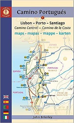 Camino Portugues Karte.Camino Portugues Maps Mapas Mappe Karten Lisboa Porto
