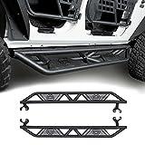 Jeep JK Black Blade Side Step Nerf Bars for 2007-2018 Jeep Wrangler Unlimited 4-Door